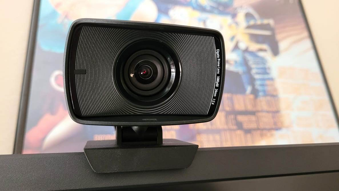 A front view of a webcam