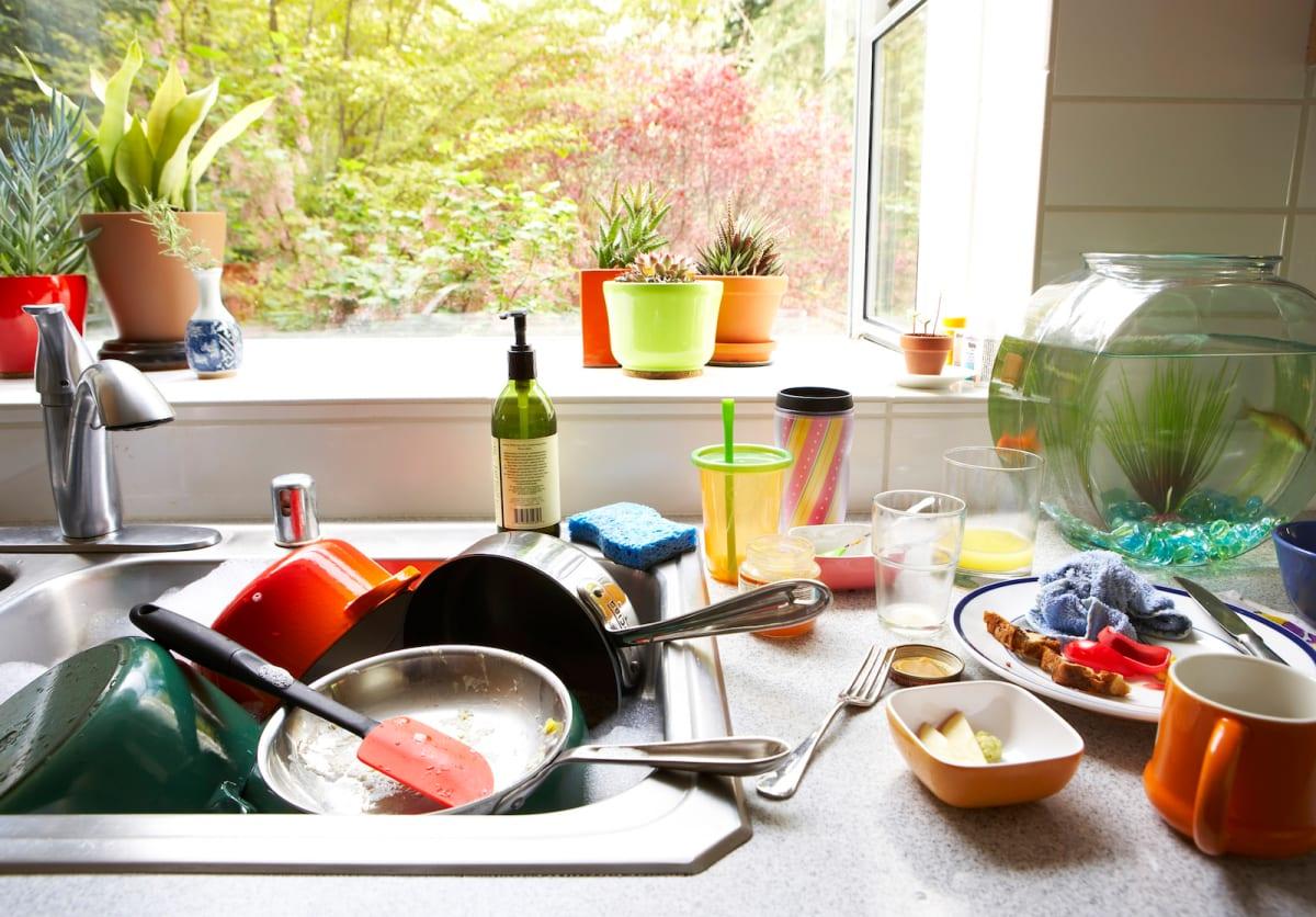 картинка гора посуды наши дни