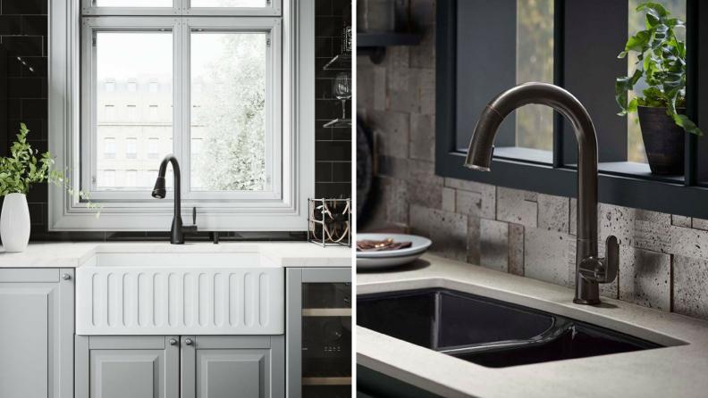 Black-gooseneck-faucets