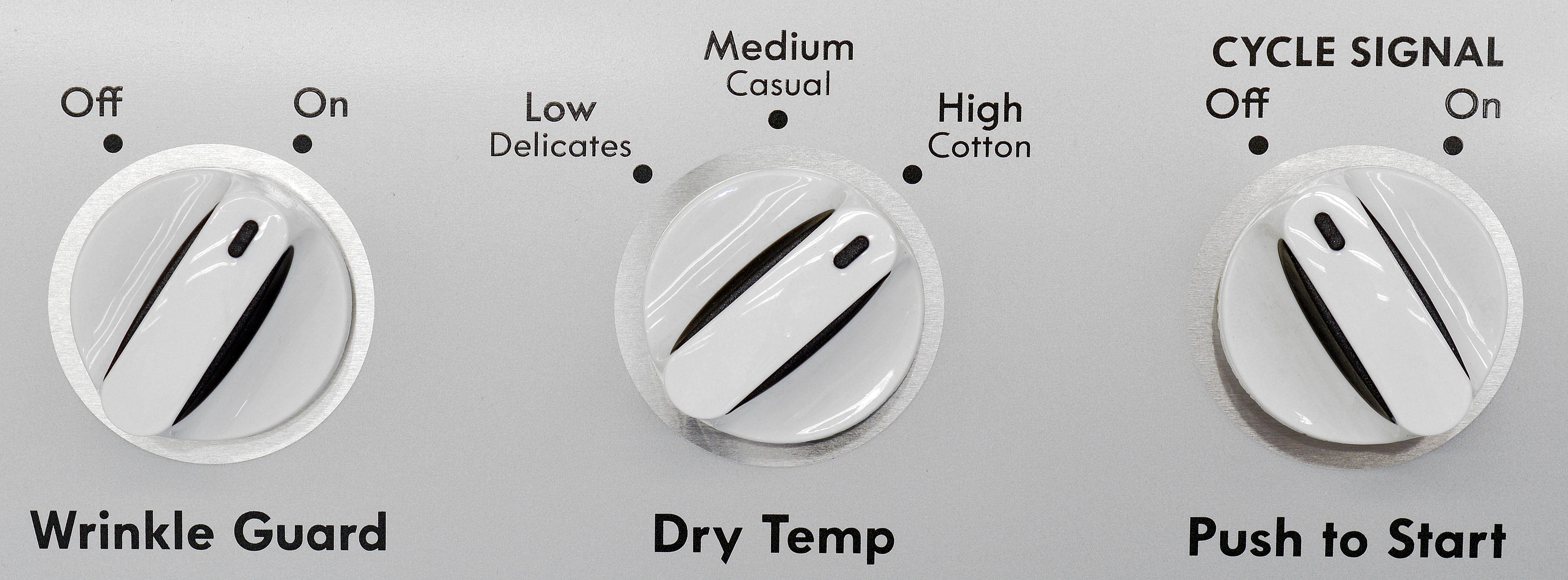 The Kenmore 62342's three temp settings and a Wrinkle Guard are almost as basic a feature set as you could find.