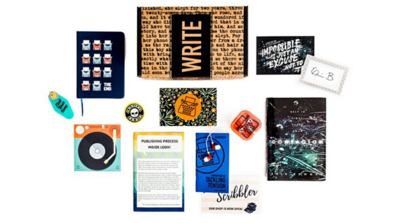 A subscription box from Scribbler meant to inspire writers.