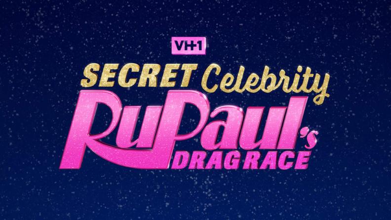 The promotional art of RuPaul's Secret Celebrity Drag Race.