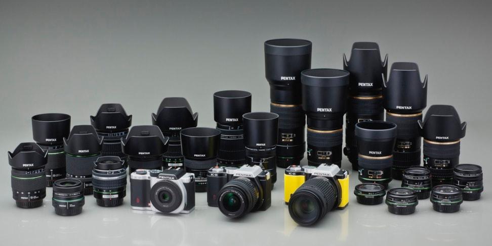 A variety of Pentax K-mount lenses