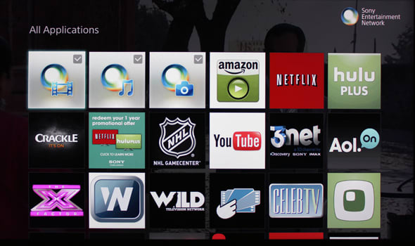 Sony's smart platform is a jumble of apps.