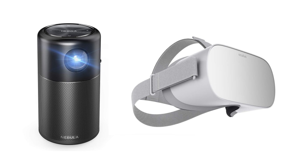 Nebula Capsule Projector and Oculus Go Virtual Reality Headset