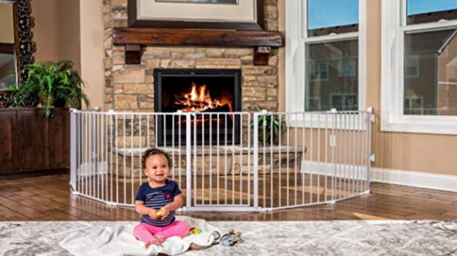 Regalo Super Adjustable 192-inch Wide Gate and Play Yard