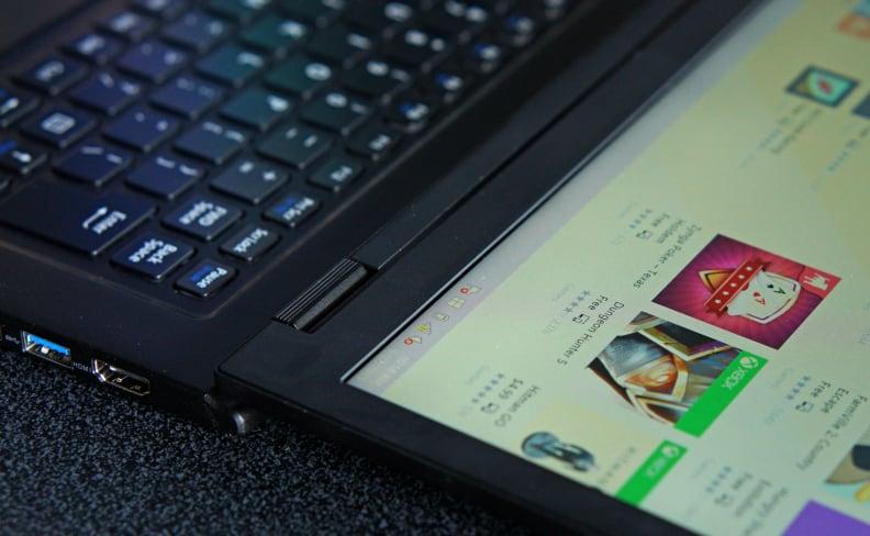 LaVie Z - Tilted Back Screen