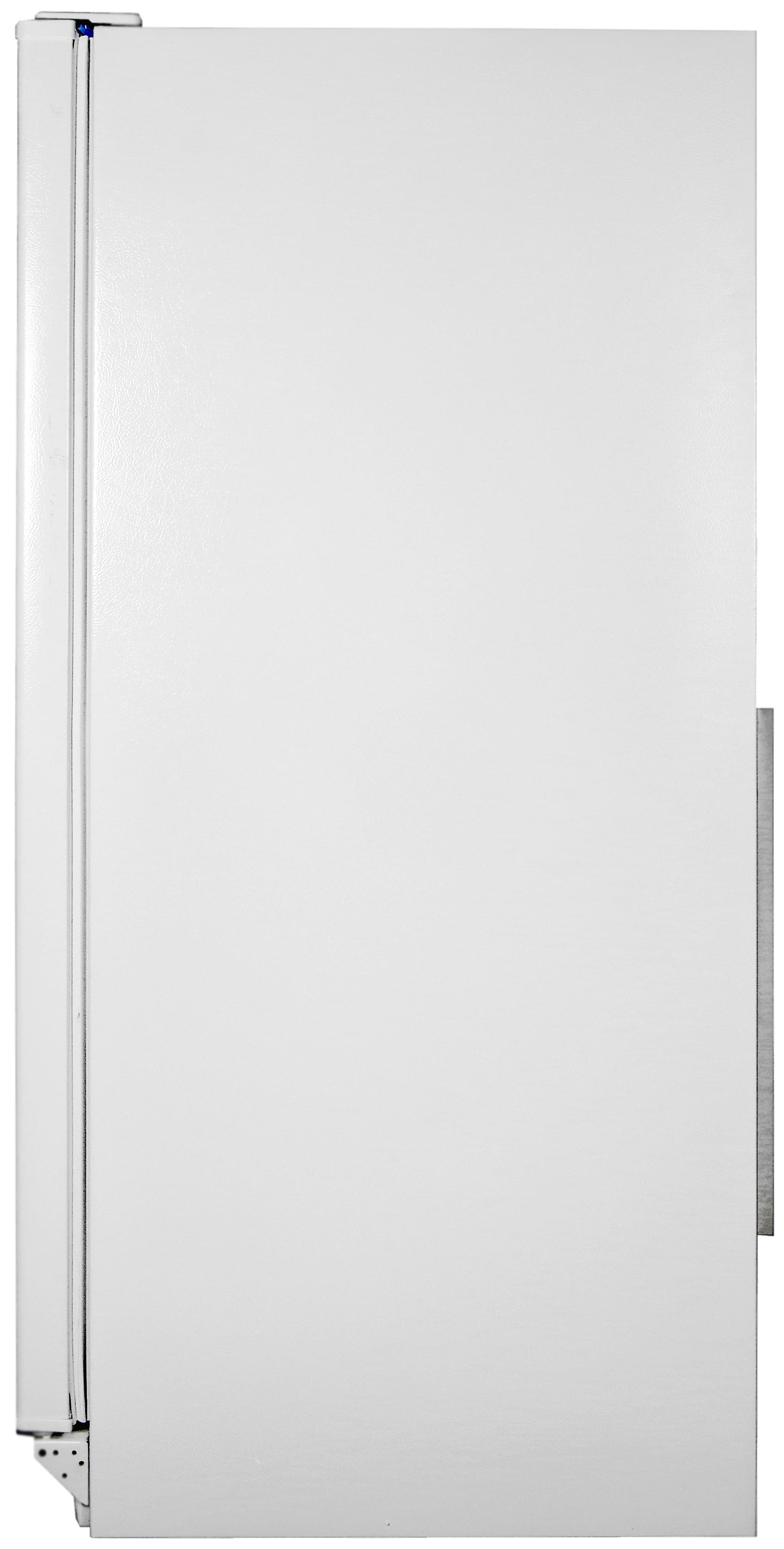 Basic white sides match the white textured front of the Whirlpool EV160NZTQ.