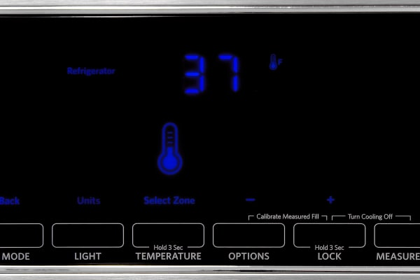 The touch screen controls on the KitchenAid KFXS25RYMS are responsive and very easy to use.