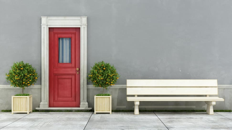 some front door paint colors can enhance architectural elements