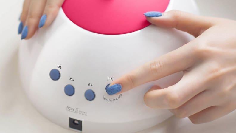 SunUV nail lamp timer buttons