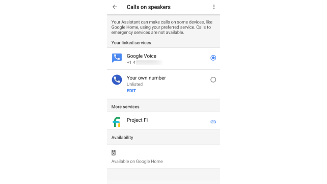 Make a call with Google