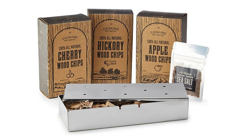 Set of grill smoking chips displayed together.