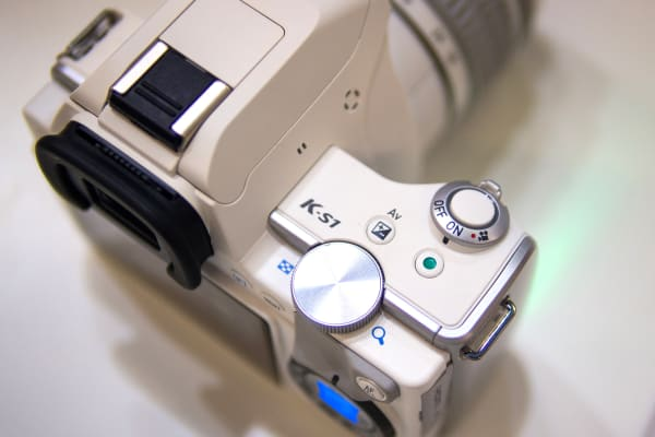 Unlike other recent entry-level Pentax DSLRs, the K-S1 has only one control dial.