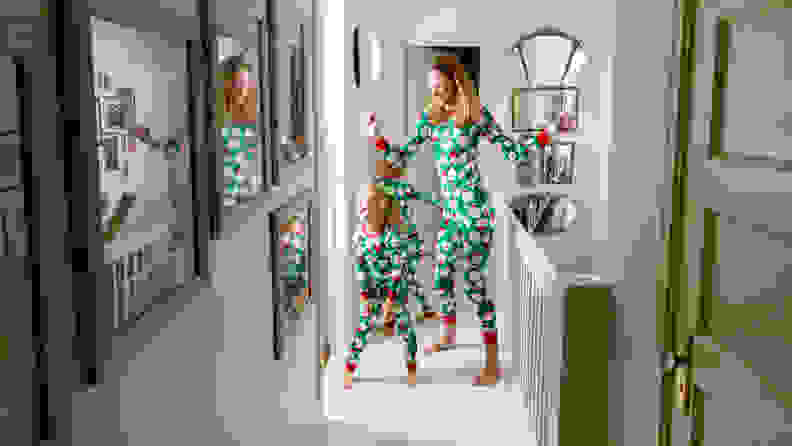 The Christmas pajamas from Carter's are especially colorful and festive.