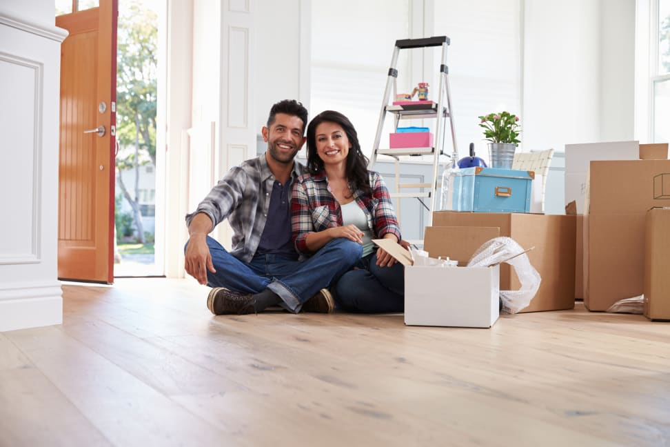 Couple moving in to first house