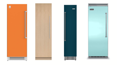 Four column refrigerators in a row