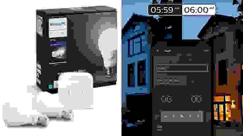 Philips Hue White Equivalent Dimmable Smart Bulb Starter Kit