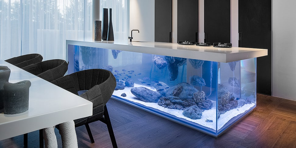 Designer Robert Kolenik's 'Ocean' concept brings the sea to your kitchen