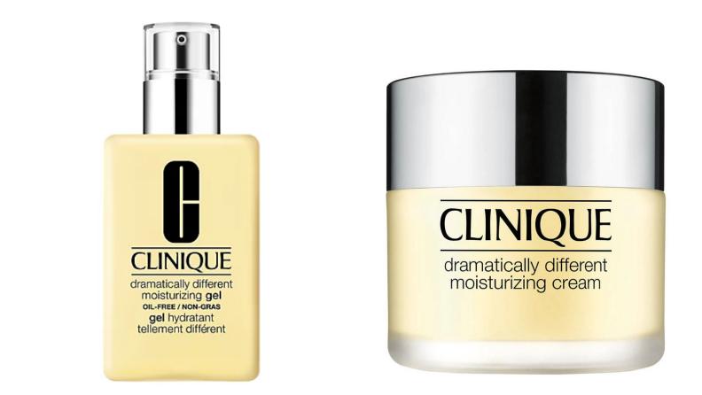 Clinique moisturizer on white background