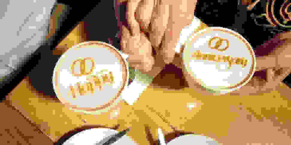 The Ripple Maker can print custom designs in coffee foam in just 10 seconds