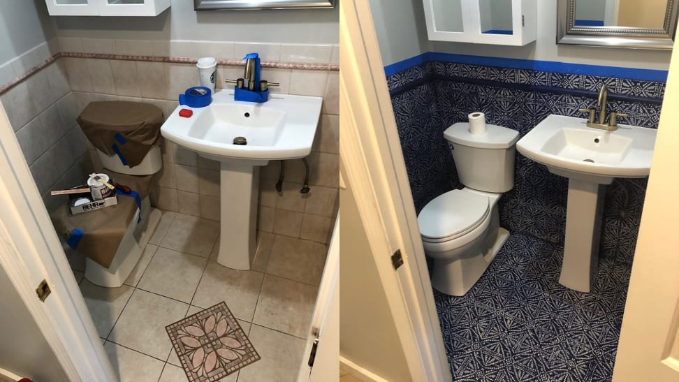 Stencil painting areas of your home, like your bathroom, can upgrade your home design