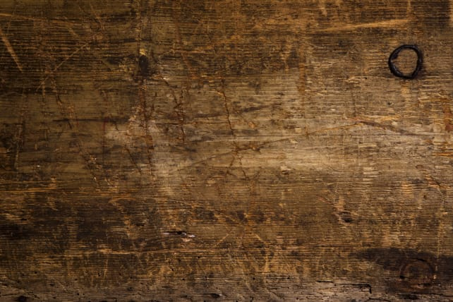 Scratched-wood