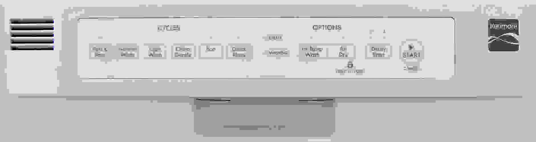 Kenmore 14652 controls