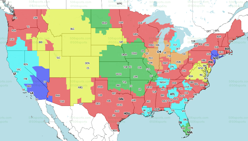 How to watch every 2018 NFL game—with or without cable - Reviewed Cbs Nfl Tv Coverage Map on