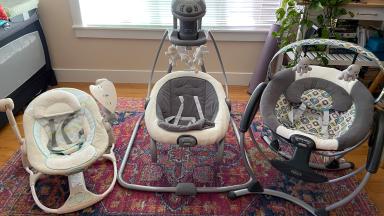 Three baby swings