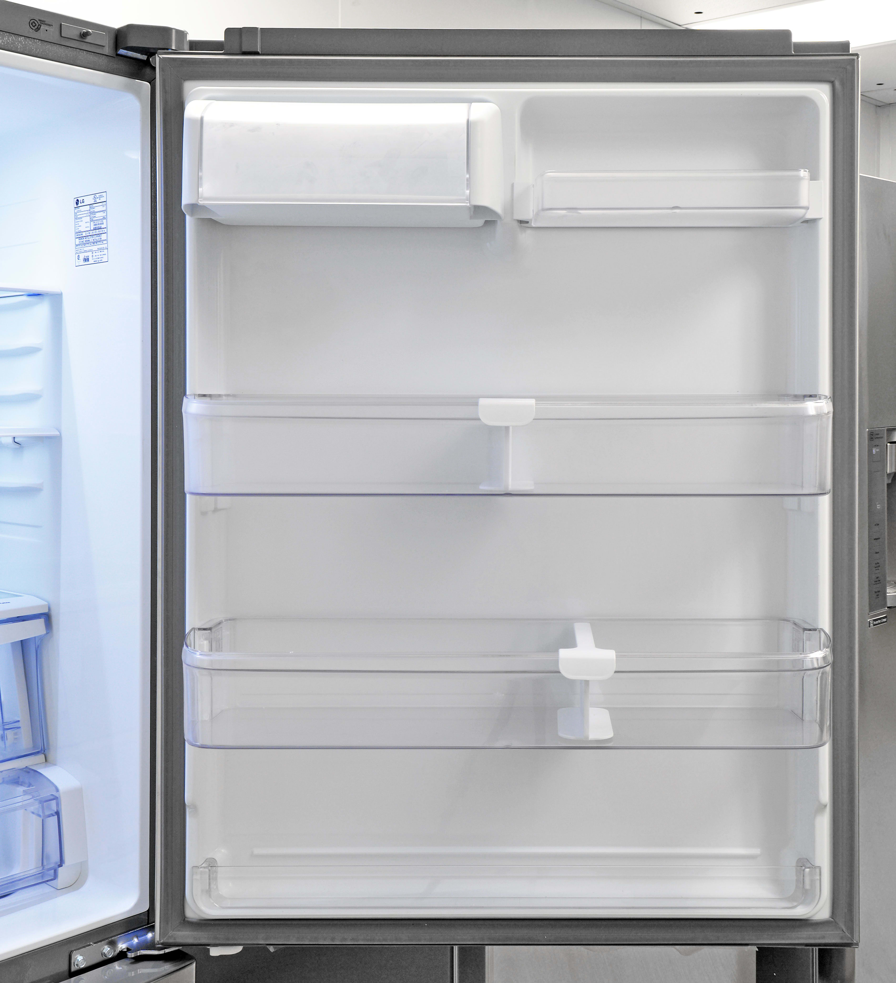 Plenty of space on the LG LDC24370ST's door is great for organizing frequently-used items that you want to keep handy.