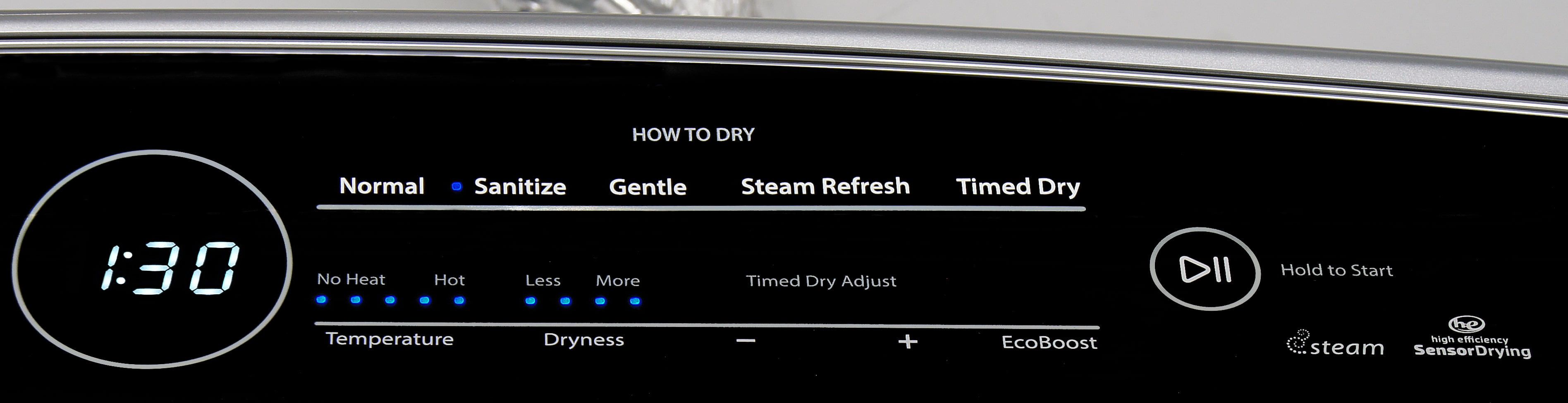 ...then you pick how you want it washed. The Whirlpool Cabrio WED8500DC isn't 100% fool-proof, but it should take a lot of the guesswork out of effective laundering.