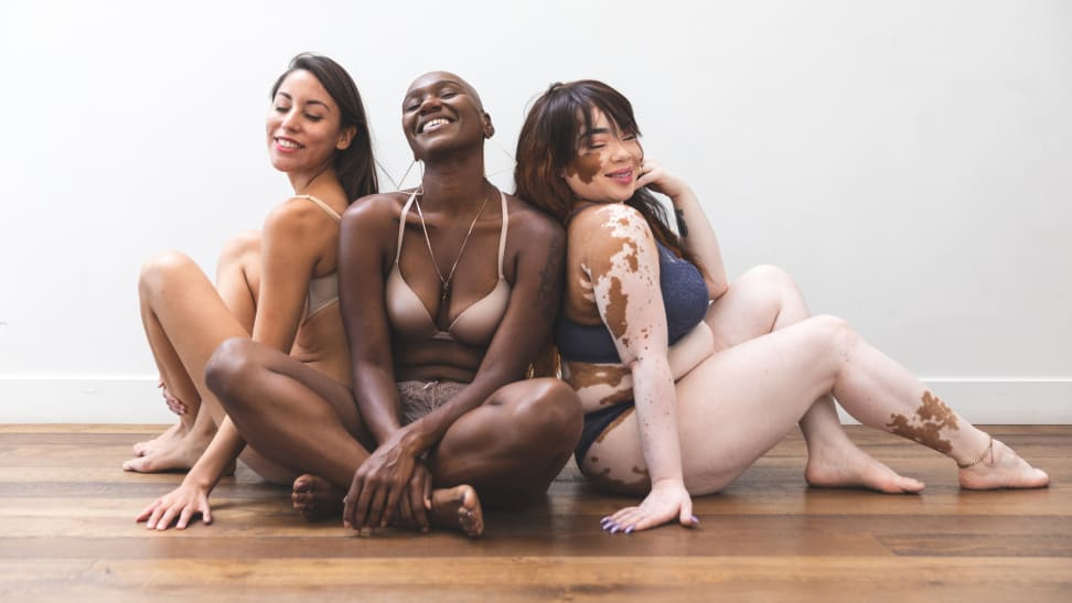 This is a picture of women for who know the best places to buy lingerie online for their body types.