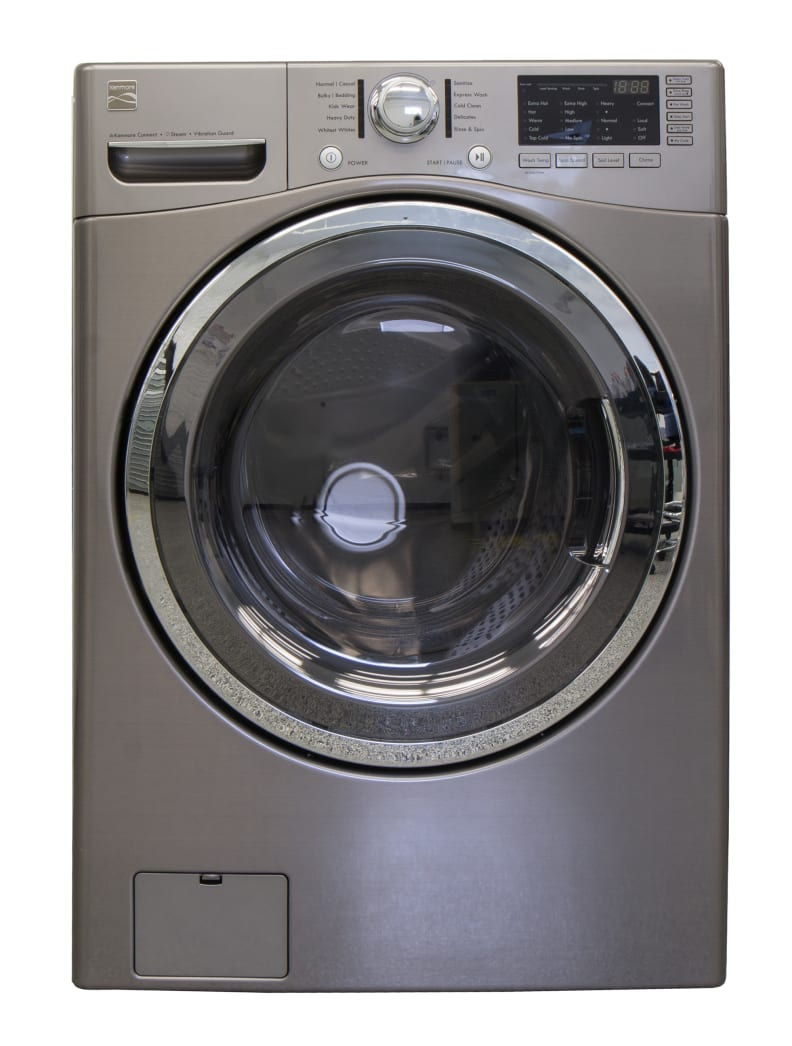 The Kenmore 41383 is plain with a few accents.