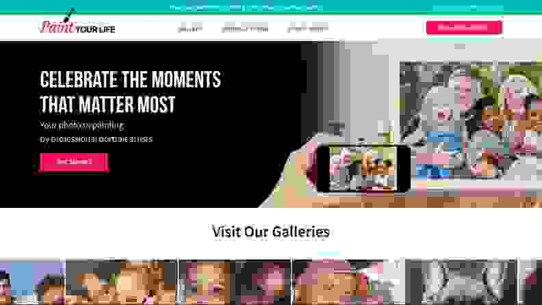 Paint Your Life homepage
