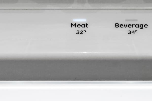 The large drawer in the GE Profile PFE28RSHSS's fridge can be used normally, or you can activate one of three independent temperature settings.
