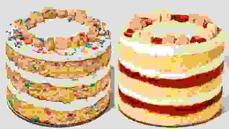 Two Milkbar cakes: birthday and strawberry shortcake