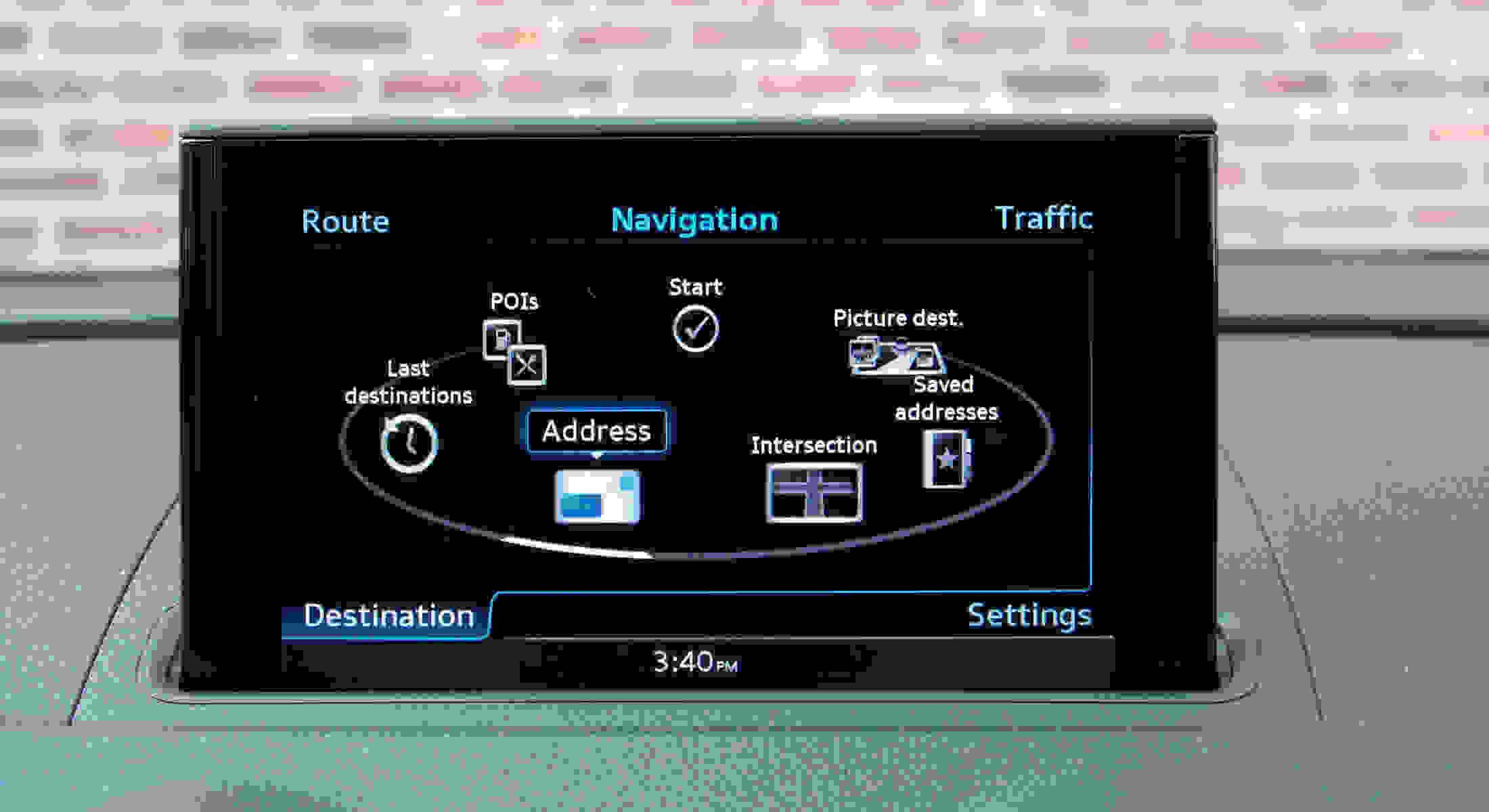 Audi A3 home screen