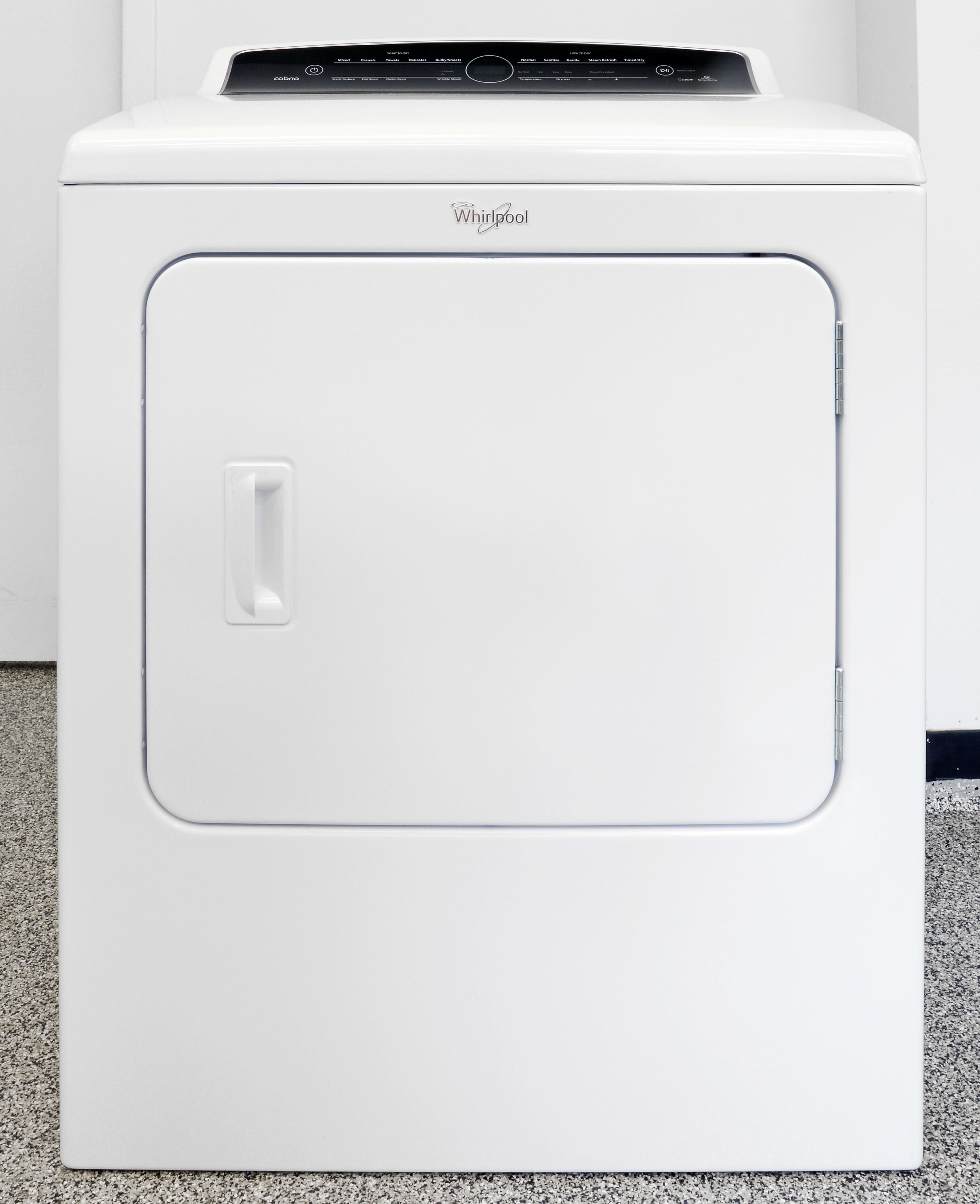 If it weren't for the fancy controls, the Whirlpool Cabrio WED7300DW would be a very basic budget dryer.