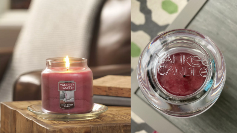 On left, Yankee Candle's