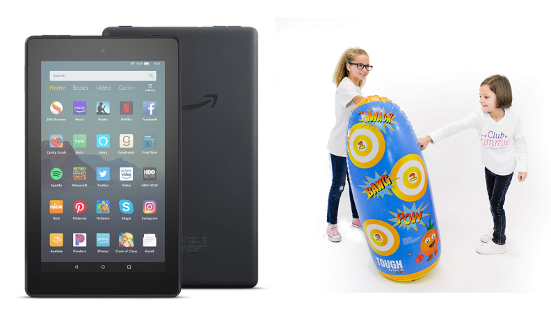 Kindle Fire and Punching Bag