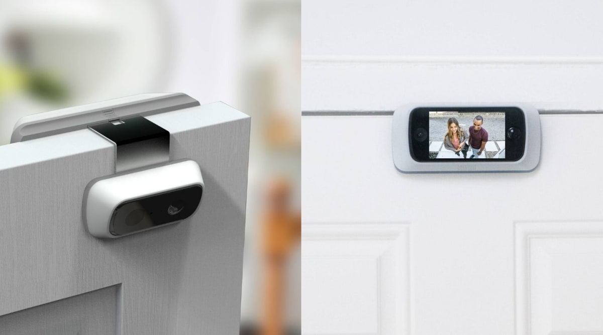 This portable over-door camera is perfect for travelers and renters