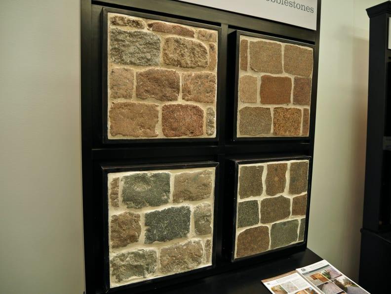 Various cobblestone tiles