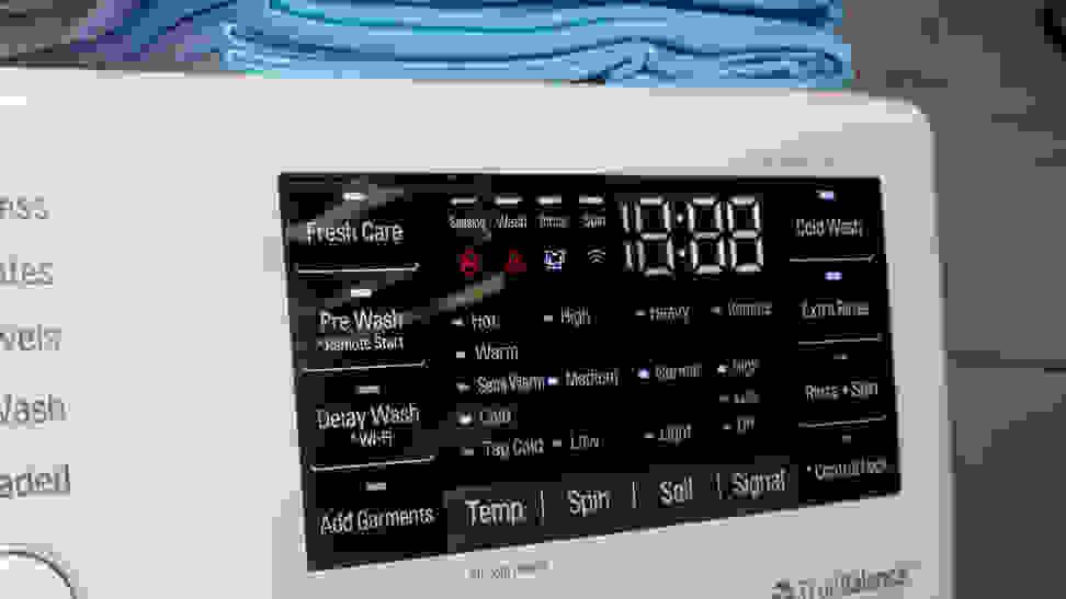 LG WM3500CW Options