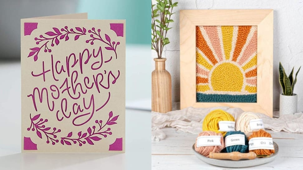 Left: Mother's Day Card; Right: Sunrise Punch Art