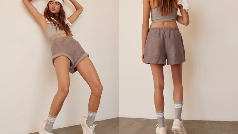 Free People terry shorts