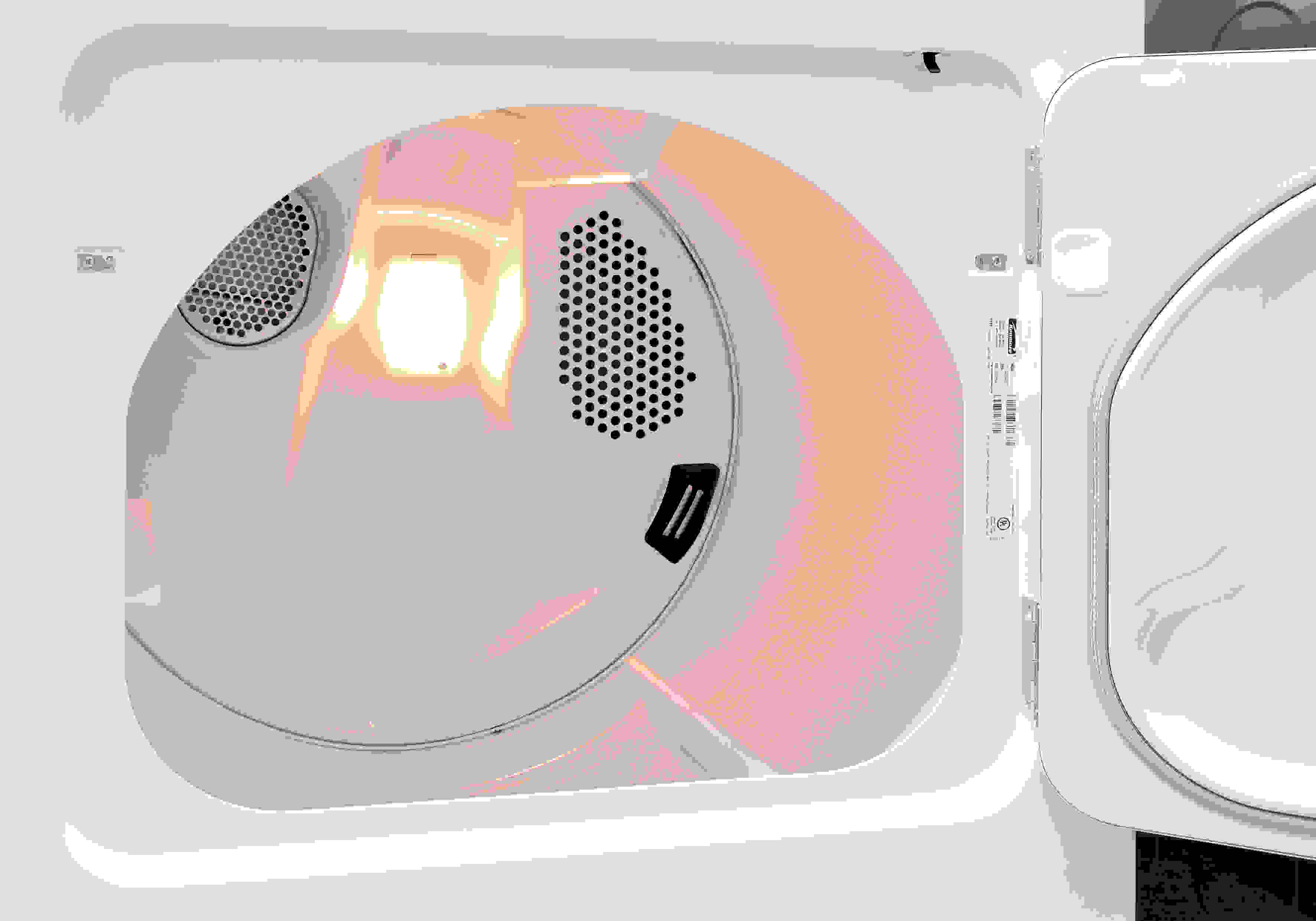 A white drum is common for budget-level dryers like the Kenmore 62342.