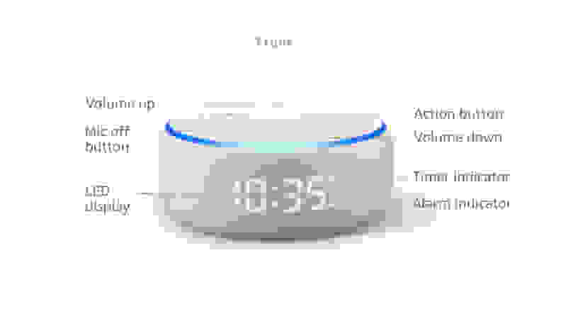 Echo Dot 3 display elements
