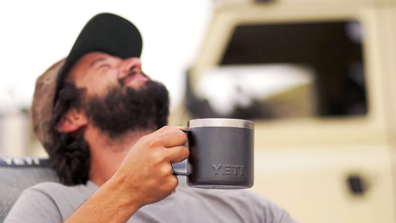 Sip your morning coffee out of this YETI mug.