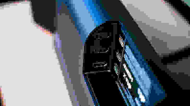 Vizio Elevate inputs cubby